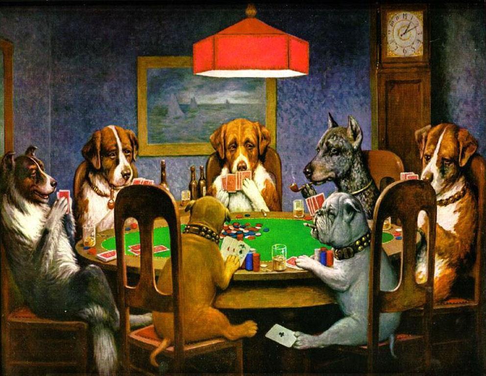 pokerspielende-hunde