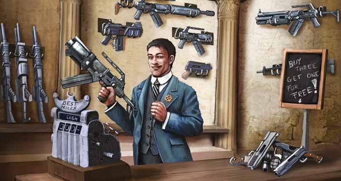Bauhaus-Waffenhändler in Mutant Chronicles 3