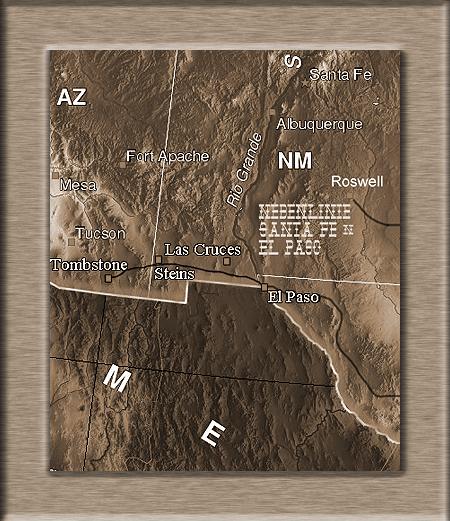 Kartenausschnitt um Steins