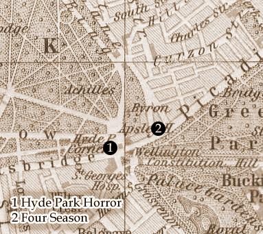 Kartenausschnitt Londons