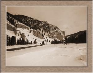 Wiser River verschneit