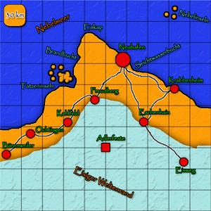 Umland von Neuhafen mit Raster