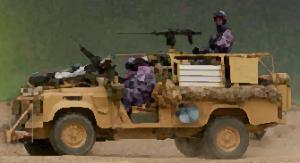 Das Fahrzeug des Teams